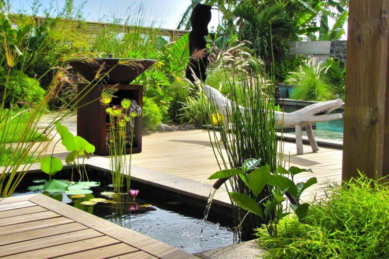 Aménagement jardin de la villa de jade