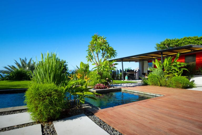 Aménagement jardin villa